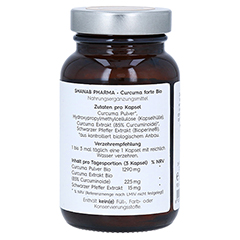 CURCUMA FORTE Bio+Bioperine vegan Kapseln 60 Stück - Linke Seite