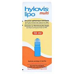 HYLOVIS lipo multi Augentropfen 10 Milliliter - Vorderseite