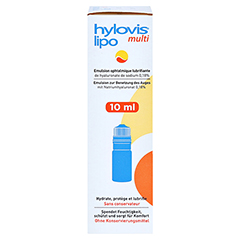 HYLOVIS lipo multi Augentropfen 10 Milliliter - Linke Seite