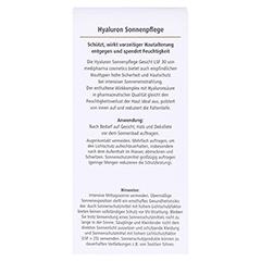 medipharma Hyaluron Sonnenpflege Gesicht LSF 30 50 Milliliter - Rückseite