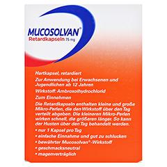 MUCOSOLVAN Retardkapseln 75 mg 10 Stück - Rückseite
