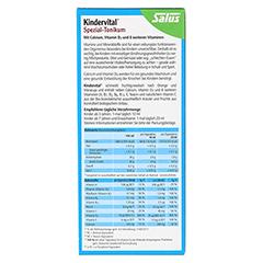 Salus Kindervital mit Calcium + D3 Tonikum Bio 250 Milliliter - Rückseite