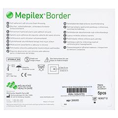 MEPILEX Border Schaumverband 10x10 cm CPC 5 Stück - Rückseite