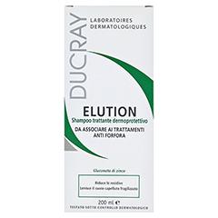 DUCRAY ELUTION aktiver Schutz Shampoo 200 Milliliter - Rückseite