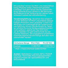 LACTOSTOP 5.500 FCC Tabletten Klickspender 120 Stück - Rückseite