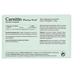 CARNITIN Pharma Nord Kapseln 75 Stück - Rückseite