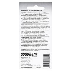 GOGODENT Atem-Liquid Ice Mint 3x3.2 Milliliter - Rückseite