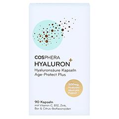 COSPHERA Hyaluron Plus Kapseln Age Protect 90 Stück - Vorderseite