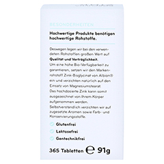 COSPHERA Zink 25 mg Tabletten 365 Stück - Rückseite