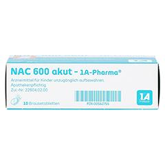NAC 600 akut-1A Pharma 10 Stück - Unterseite