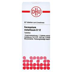 GERMANIUM METALLICUM D 12 Tabletten 80 Stück - Vorderseite