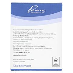 PASCONEURAL Injektopas 2% 5 ml Inj.-Lösung Amp. 5 Stück N2 - Rückseite