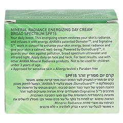 AHAVA Mineral Radiance Energizing Day Cream SPF 15 + gratis Ahava Mineral Toning Water 250 ml 50 Milliliter - Rückseite