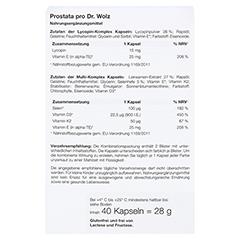 PROSTATA PRO Dr.Wolz Kapseln 2x20 Stück - Rückseite