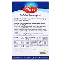ABTEI Zink Plus (Vitalstoff-Kapseln) 32 Stück - Rückseite