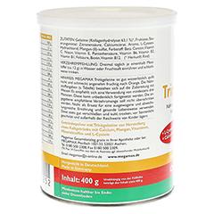 MEGAMAX Trinkgelatine Pulver 400 Gramm - Rückseite