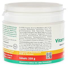 Megamax Vita Mineral Drink Kirsche Pulver 350 Gramm - Rückseite