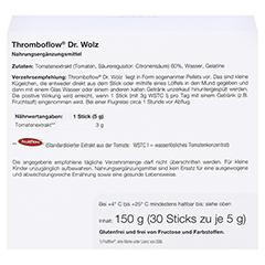 THROMBOFLOW Dr.Wolz Pellets 30x5 Gramm - Rückseite