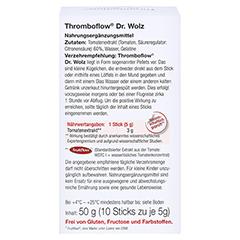 THROMBOFLOW Dr.Wolz Pellets 10x5 Gramm - Rückseite