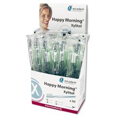 MIRADENT Einmalzahnbürste Happy Morning Xylitol 50 Stück