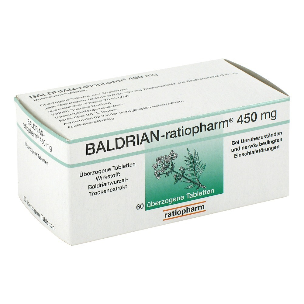 hilfreich beim einschlafen baldrian ratiopharm 450 mg berzogene tabletten 60 st ck erfahrung. Black Bedroom Furniture Sets. Home Design Ideas