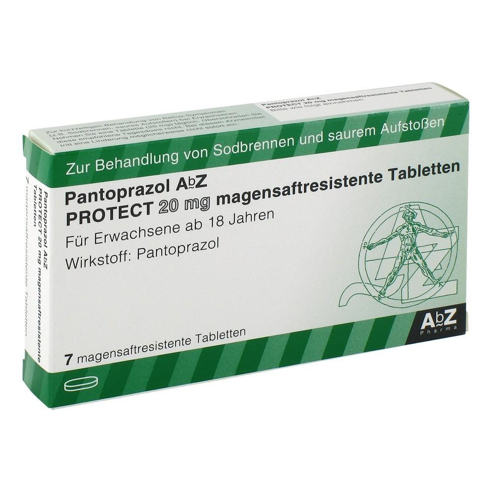 pantoprazol abz protect 20 mg magensaftr tabletten 7 st ck. Black Bedroom Furniture Sets. Home Design Ideas