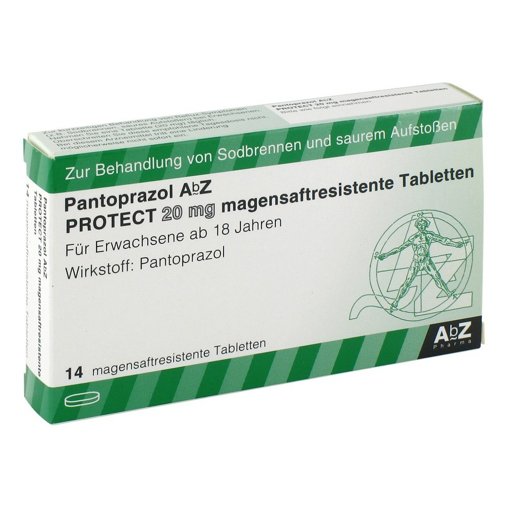 pantoprazol abz protect 20 mg magensaftr tabletten 14. Black Bedroom Furniture Sets. Home Design Ideas