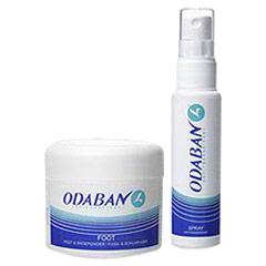 Odaban Antitranspirant Deodorant Spray + Odaban Fuss-u.Schuhpuder 50 Gramm + 30 Milliliter