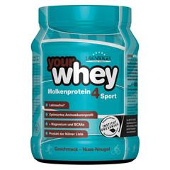 YOURWHEY Nuss Nougat Molk.Protein 4Sport Lakt.fr. 450 Gramm