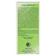 WELEDA Birken Cellulite Öl 100 Milliliter - Rückseite