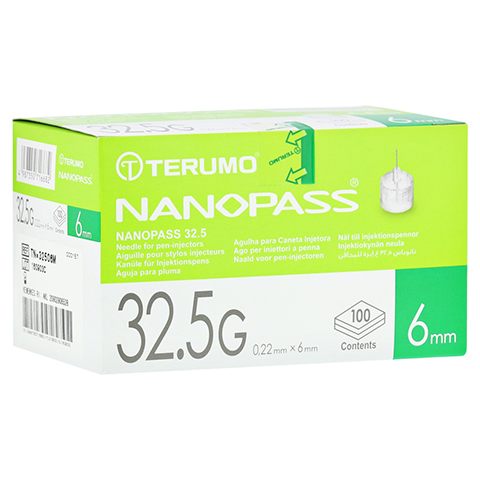 TERUMO NANOPASS 32,5 Pen Kanüle 0,22x6 mm 100 Stück