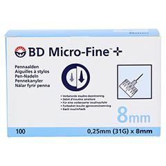 BD MICRO-FINE+ 8 Pen-Nadeln 0,25x8 mm 100 Stück - Vorderseite