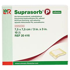 SUPRASORB P PU-Schaumv.7,5x7,5 cm selbstklebend 10 Stück - Vorderseite