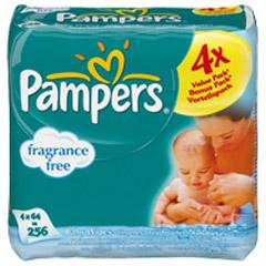 pampers feuchte t cher babyfresh vorteilspack 256 st ck. Black Bedroom Furniture Sets. Home Design Ideas