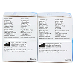 CONTOUR Sensoren Teststreifen 100 Stück - Linke Seite