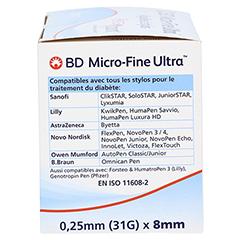 BD MICRO-FINE ULTRA Pen-Nadeln 0,25x8 mm 100 Stück - Rechte Seite
