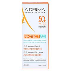 A-DERMA Protect AC Mattierendes Sonnenschutz Fluid LSF 50+ 40 Milliliter - Rückseite