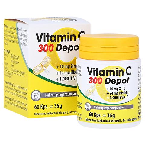 VITAMIN C 300 Depot+Zink+Histidin+D Kapseln 60 Stück
