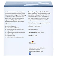 MÄNNERTEE Pyramidenbeutel 12x2.5 Gramm - Rückseite