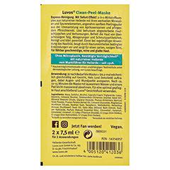 LUVOS Heilerde Clean-Peel-Maske 2x7.5 Milliliter - Rückseite