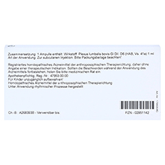 PLEXUS LUMBALIS GL D 6 Ampullen 10x1 Milliliter N1 - Rückseite