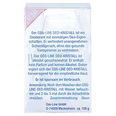 DEO MINERAL Kristall 1 Stück - Rückseite