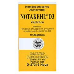 NOTAKEHL D 3 Suppositorien 10 Stück N1 - Vorderseite