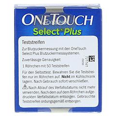 ONE TOUCH Select Plus Blutzucker Teststreifen 50 Stück - Rückseite