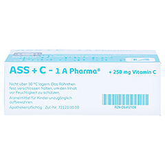 ASS+C-1A Pharma 20 Stück - Oberseite