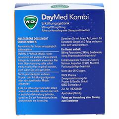 WICK DayMed Kombi Erkältungsgetränk 10 Stück - Rückseite