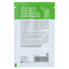 DERMASEL Maske Feuchtigkeit SPA 12 Milliliter - Rückseite