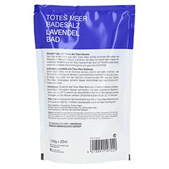 DERMASEL Totes Meer Badesalz+Lavendel SPA 1 Packung - Rückseite