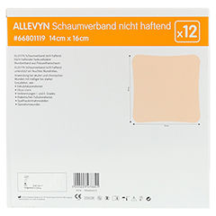 ALLEVYN Schaumverband 14x16 cm nicht haftend 12 Stück - Rückseite