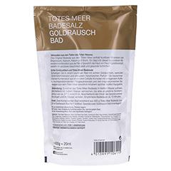 DERMASEL Totes Meer Badesalz+Gold EXKLUSIV 1 Packung - Rückseite
